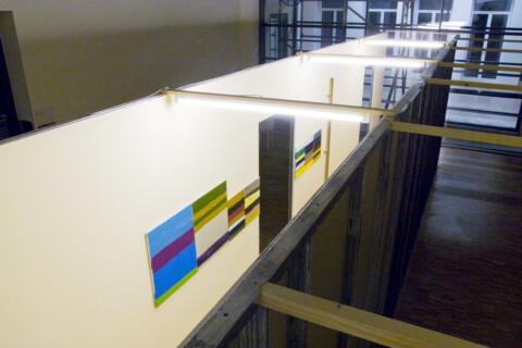 Ausstellungsansicht, Flurstück 3 (Oliver Kossack), 2007, GfZK Leipzig, Foto: Andreas Enrico Grunert