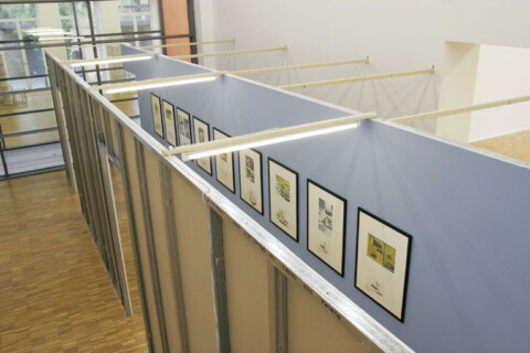 Ausstellungsansicht, Flurstück 2 (Neo Rauch), 2007, GfZK Leipzig, Foto: Andreas Enrico Grunert