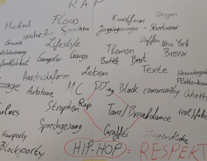 Workshop RAP IT NEISSLY: RAP-Assoziationen